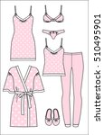 set of women's homewear ... | Shutterstock .eps vector #510495901