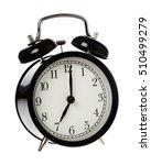 one black alarm clock display... | Shutterstock . vector #510499279