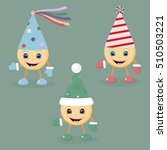 funny little men in colored... | Shutterstock .eps vector #510503221
