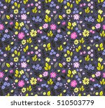 seamless pattern with flowers... | Shutterstock .eps vector #510503779