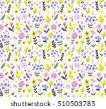 seamless pattern with flowers... | Shutterstock .eps vector #510503785