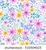cute seamless pattern in small... | Shutterstock .eps vector #510504025