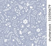 hand drawn floral pattern.... | Shutterstock .eps vector #510504679