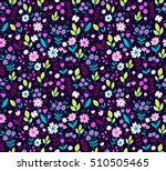 cute floral pattern in the... | Shutterstock .eps vector #510505465