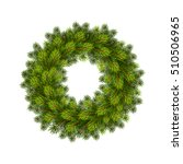 christmas wreath with balls.... | Shutterstock .eps vector #510506965