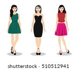 beautiful young girls in... | Shutterstock .eps vector #510512941