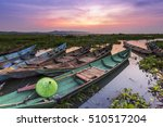 rawa pening  clear swamp  is a... | Shutterstock . vector #510517204