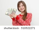 teen little girl with cash... | Shutterstock . vector #510522271