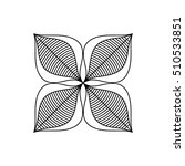 isolated silhouette of flower... | Shutterstock .eps vector #510533851