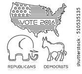 presidential elections 2016.... | Shutterstock .eps vector #510535135
