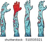 zombie hands and arms. vector... | Shutterstock .eps vector #510535321