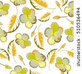 seamless vector tropical design ... | Shutterstock .eps vector #510536494