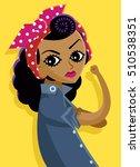 african poster woman | Shutterstock .eps vector #510538351