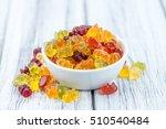 heap of gummy bears  close up... | Shutterstock . vector #510540484