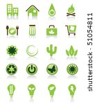 set of 20 green icons | Shutterstock .eps vector #51054811
