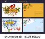 illustration postcard for happy ... | Shutterstock . vector #510550609