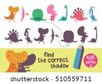 find the correct shadow. kids... | Shutterstock .eps vector #510559711