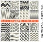seamless zig zag pattern set....   Shutterstock .eps vector #510597181