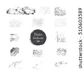 vector collection of handdrawn... | Shutterstock .eps vector #510603589
