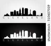 cleveland usa skyline and... | Shutterstock .eps vector #510607039