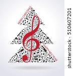 Christmas Card. Musical Tree...