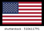 vector image of american flag.... | Shutterstock .eps vector #510611791