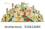 flat design urban landscape...   Shutterstock .eps vector #510613684