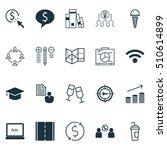 set of 20 universal editable... | Shutterstock .eps vector #510614899