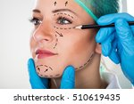 close up of a surgeon drawing... | Shutterstock . vector #510619435