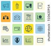 set of 16 universal editable... | Shutterstock .eps vector #510620914