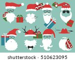 silhouette with cool beard and... | Shutterstock .eps vector #510623095