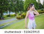 morning the asia women... | Shutterstock . vector #510625915