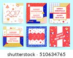 christmas and new year greeting ... | Shutterstock .eps vector #510634765