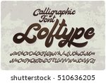 vintage bold calligraphic brush ... | Shutterstock .eps vector #510636205