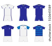 football kit. template. set | Shutterstock .eps vector #510645589