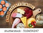 foods rich in cholesterol as... | Shutterstock . vector #510654247
