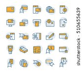 simple icon set of pay items in ... | Shutterstock .eps vector #510655639