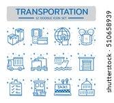 doodle vector line icons set of ... | Shutterstock .eps vector #510658939