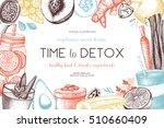 detox diet frame design. vector ... | Shutterstock .eps vector #510660409