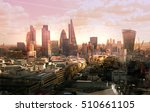 london view at sunset. view on... | Shutterstock . vector #510661105
