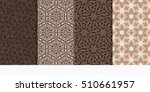 set of seamless floral patterns.... | Shutterstock .eps vector #510661957
