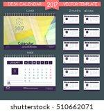 calendar 2017. vector templates ... | Shutterstock .eps vector #510662071