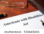 Small photo of Paper with title Americans with Disabilities Act.