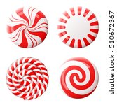 christmas round candy set.... | Shutterstock . vector #510672367