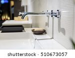 modern faucet and wash basin in ... | Shutterstock . vector #510673057