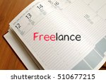 freelance text concept write on ... | Shutterstock . vector #510677215