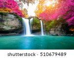 amazing waterfall in colorful...   Shutterstock . vector #510679489