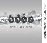 new year card  cover or... | Shutterstock .eps vector #510682717