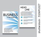 vector brochure flyer design... | Shutterstock .eps vector #510691327