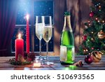 close up view of champagne with ... | Shutterstock . vector #510693565